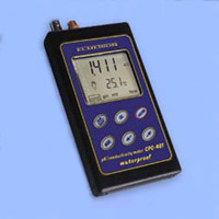 Waterproof portable conductivity salinity meter.