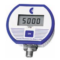 Digital pressure gauge battery powered.