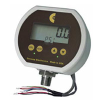 Pressure gauge with analog output and alarm switch