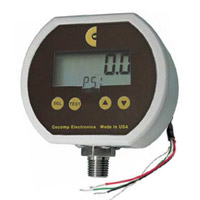 Low voltage powered digital pressure gauge