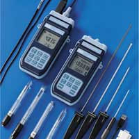pH meter thermometer.